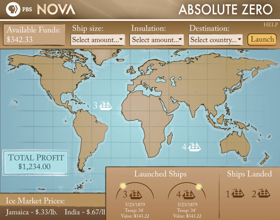 NOVA Absolute Zero interactive