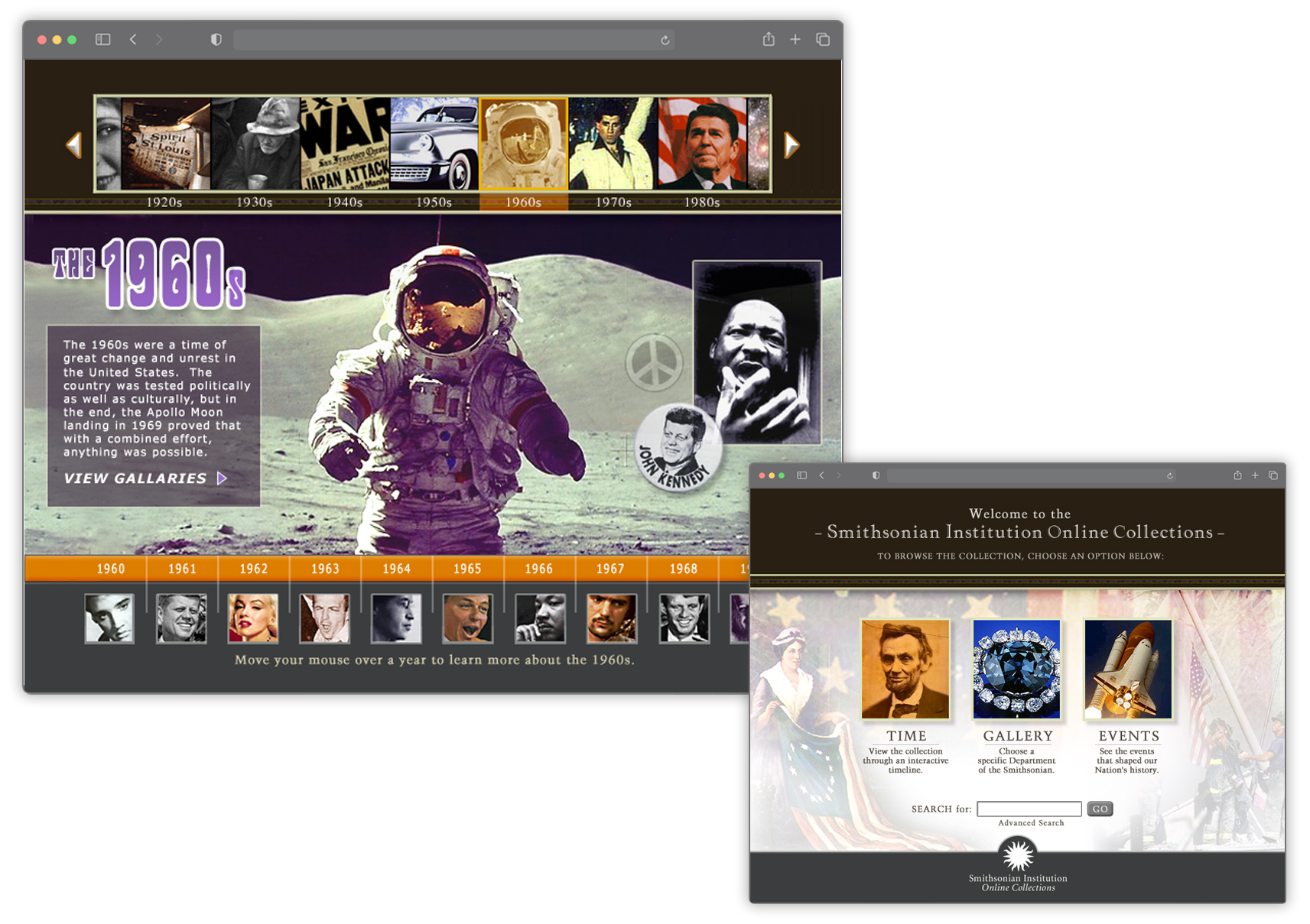 Smithsonian search UI